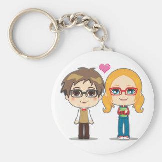Geek Couple Keychain