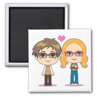 Geek Couple Fridge Magnet