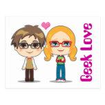 Geek Couple Post Card