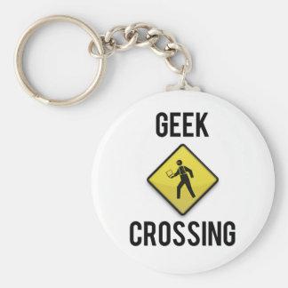 Geek Crossing Key Chain