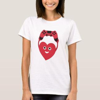 Geek Cute Heart With Gamepad Gamer T-Shirt