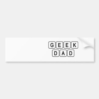 Geek Dad Car Bumper Sticker