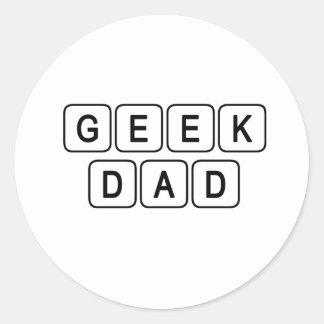 Geek Dad Classic Round Sticker