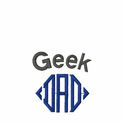Geek Dad embroidered polo shirt