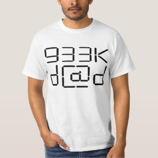 Geek Dad Word In Haxor Style Light T-Shirt