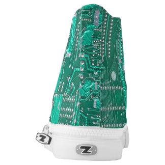 Geek electronic circuit board tennis shoe printed shoes