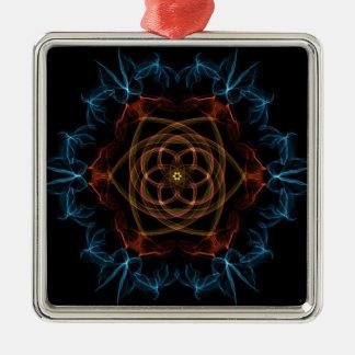 Geek Flower Metal Ornament