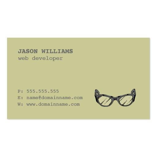 Geek For Rent, Web Developer Business Card (back side)