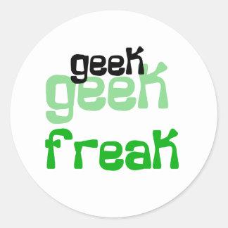 Geek Freak Round Stickers