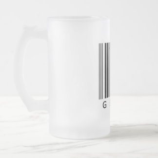 Geek Frosted Glass Beer Mug