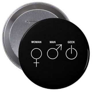 Geek Gender Pin