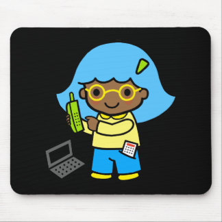 geek girl 1 mouse pad