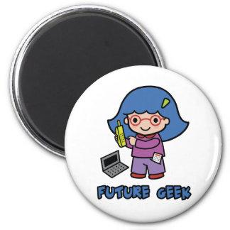 Geek Girl 2 Inch Round Magnet
