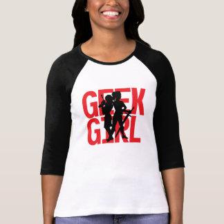 Geek Girl 3/4 Sleeve Baseball Tee