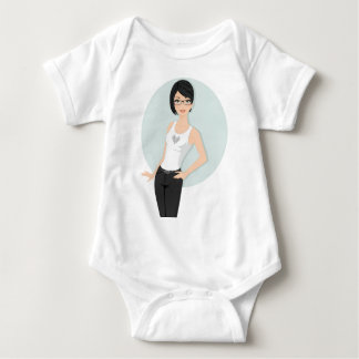 Geek Girl Baby Bodysuit