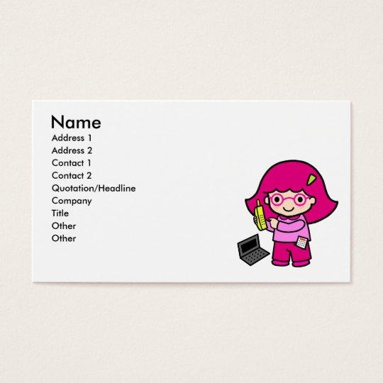 geek girl business card