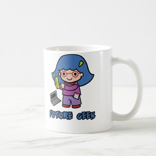 Geek Girl Classic White Coffee Mug
