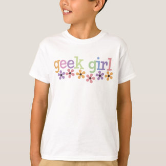 Geek Girl Daisies T-Shirt