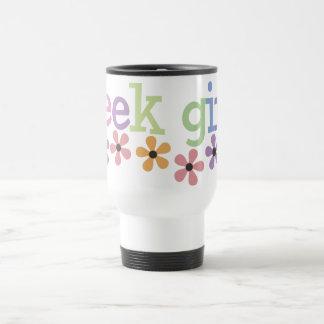 Geek Girl Daisies Travel Mug
