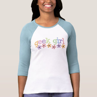 Geek Girl Daisies Tee Shirt