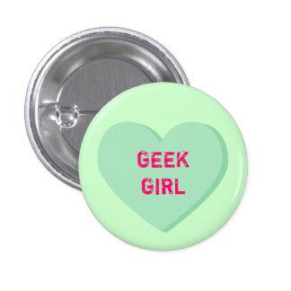 Geek Girl Heart Pinback Button