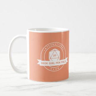 Geek Girl Pen Pals Orange Mug