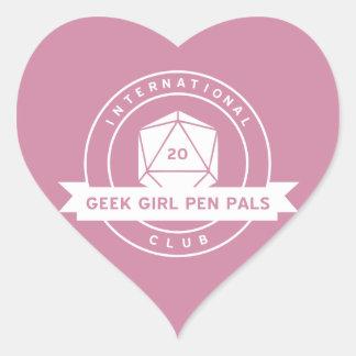 Geek Girl Pen Pals Valentine's Stickers