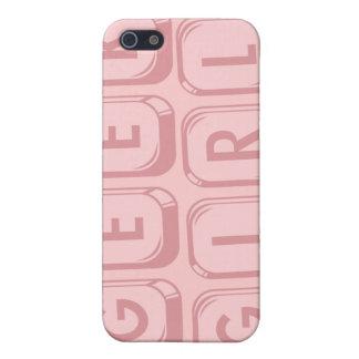 Geek Girl Pink Keyboard case for iPhone 4