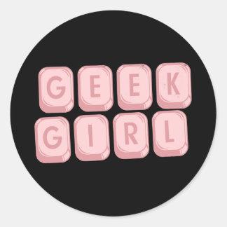Geek Girl Pink Keyboard Stickers