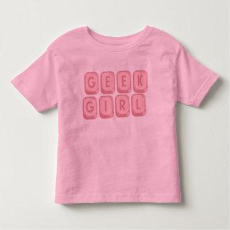 Geek Girl Pink Keyboard Tees