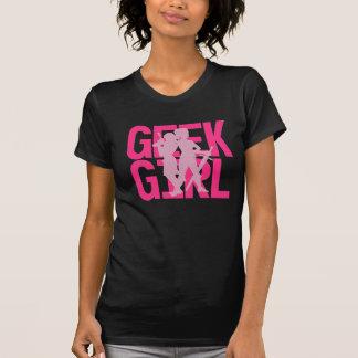 Geek Girl Pink on Black Tee