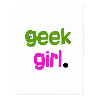 Geek Girl Postcard