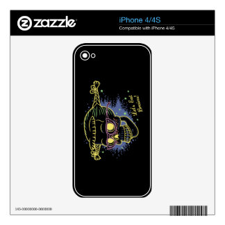 Geek Girl Zombie Skull Decals For The iPhone 4