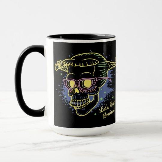 Geek Girl Zombie Skull Mug