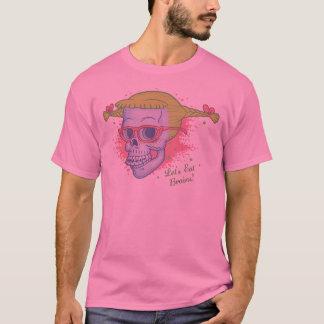 Geek Girl Zombie Skull T-Shirt
