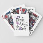Geek Girls Rock Bicycle Playing Cards