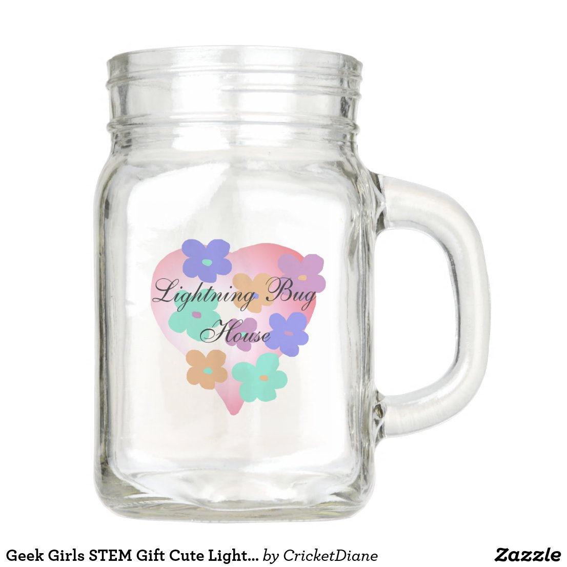 Geek Girls STEM Gift Cute Lightning Bug Jar