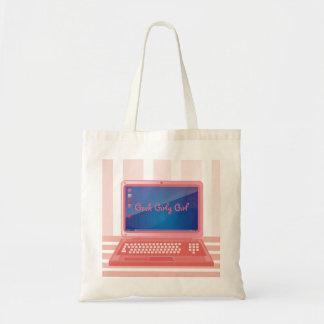 Geek Girly Girl Computer Tote Bag