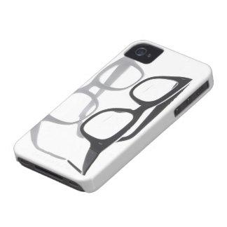 Geek glasses nerds nerd black iPhone 4S 4 case