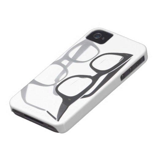 Geek glasses nerds nerd black iPhone 4S 4 case Case-Mate iPhone 4 Cases