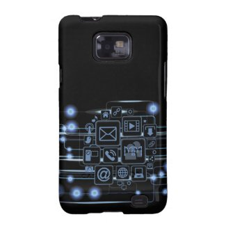 Geek Hi-Tech Concept Initials Samsung Galaxy S2 Samsung Galaxy SII Covers