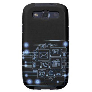 Geek Hi-Tech Concept Initials Samsung Galaxy S3 Samsung Galaxy SIII Case
