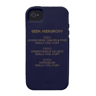 Geek Hierarchy iPhone 4 Cases