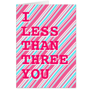 Geek I Love You / I <3 U card