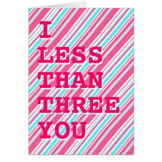 Geek I Love You / I <3 U card