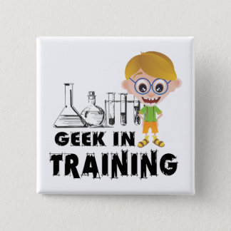 Geek in Training Chemistry Pinback Button