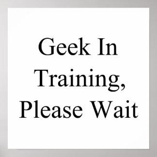 Geek In Training, Please Wait Poster