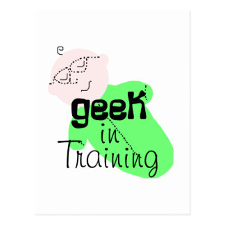 Geek in Training Postcard