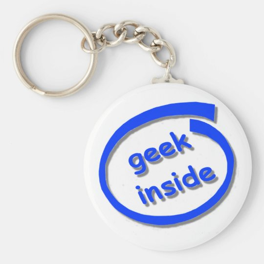 Geek Inside Keyring