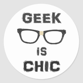 Geek is Chic Classic Round Sticker